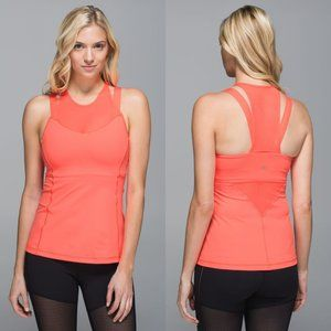 Lululemon Coral Luxtreme Running In The City Tank